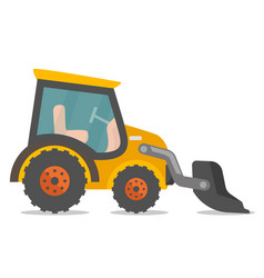 loader excavator cartoon vector image