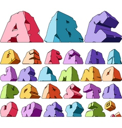 Multicolored alphabet vector