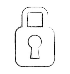 padlock security symbol vector image