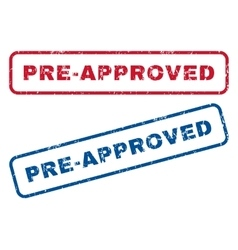 Pre-approved rubber stamps vector