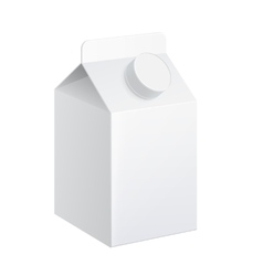 Realistic carton of milk vector