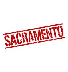 Sacramento red square stamp vector