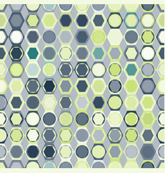 seamless pattern of circles in hexagons vector image vector image