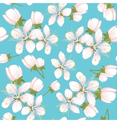 Seamless pattern with cherry blossoms vector image vector image