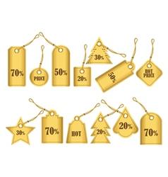 Set luxury label price tag vector