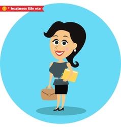 Smart office girl vector image
