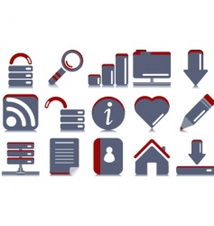 website internet icons vector image vector image