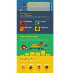 Welder Infographics Layout vector image vector image