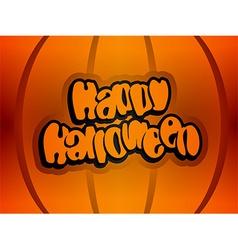 Happy halloween text lettering vector