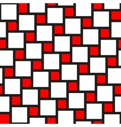 red and white tiles seamless pattern vector image