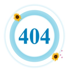 404 error icon vector