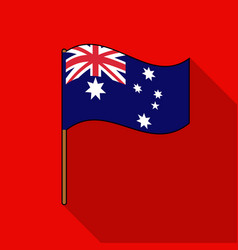 Australian flag icon in flat style isolated on vector