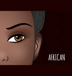 poster design with african woman face vector image