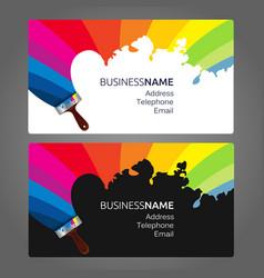 Business card paint vector
