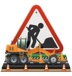 Road construction concept with sign vector