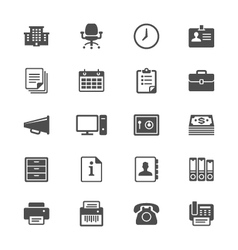 Office supplies flat icons vector