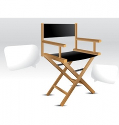 Director chair vector