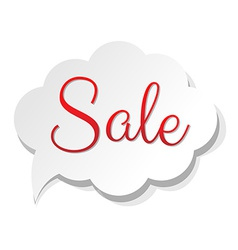 Sale banner cloud vector