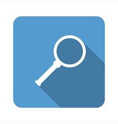 Magnifying glass flat icon vector