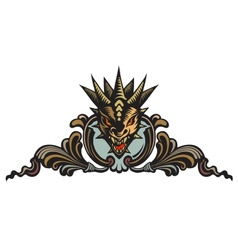 Dragons head tattoo vector