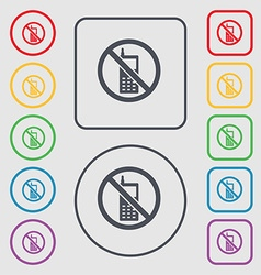 Mobile phone is prohibited icon sign symbol on the vector