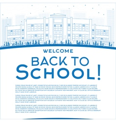 Outline back to school concept vector