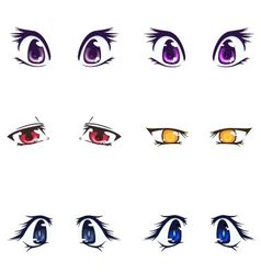 Collection of female eyes and eyebrows of vector