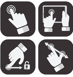 Touch screen gesture collection vector