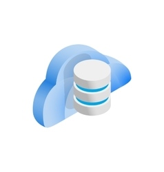 Cloud and data storage icon isometric 3d style vector image
