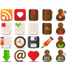 Internet and blogger icons vector