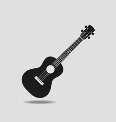 Ukulele icon on grey background flat design vector image