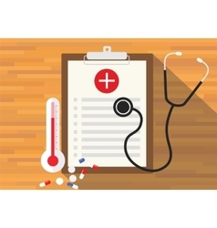 Medical record health in clipboard vector