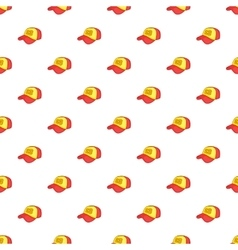 Baseball cap pattern cartoon style vector