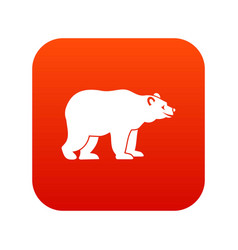 bear icon digital red vector image vector image