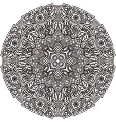 Black mandala for coloring isolated element vector