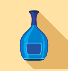 Blue wide bottle icon flat style vector