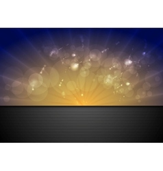 Bright sunlight background vector image