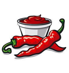 chilly peppers vector image