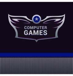 Computer games logo vector