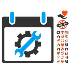Configuration tools calendar day icon with vector