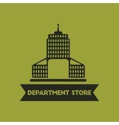 Department store building vector