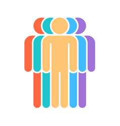 Five human sign people symbol vector