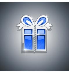 Gift box jewellery decoration vector