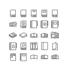 icons set books for reading on white vector image