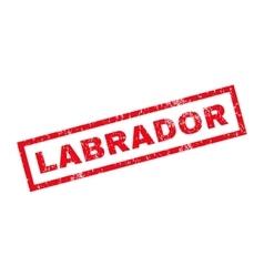 Labrador rubber stamp vector