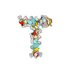 Letter t rubbish trash font garbage alphabet vector