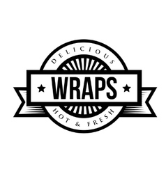 Mexican cuisine vintage sign - wraps vector