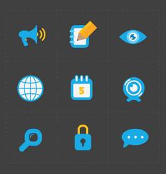 Modern colorful flat social icons set vector