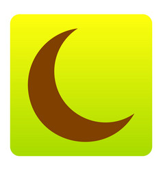 Moon sign brown icon at vector