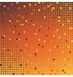 mosaic background orange vector image vector image